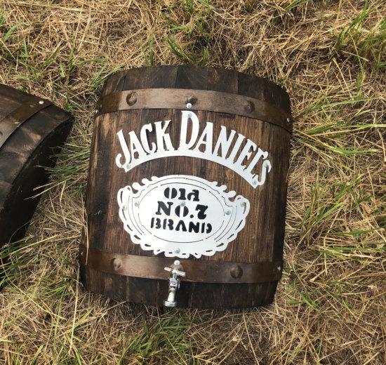 Wall Hanging Jack Daniels Half Barrel Keg