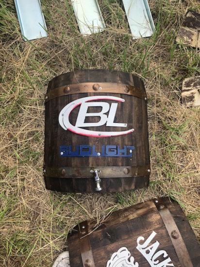 Wall Hanging Bud Light Half Barrel Keg