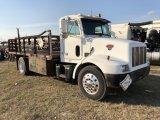 2000 Peterbilt 330 18ft Flatbed Truck