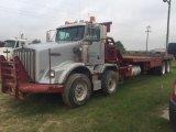 2010 Kenworth T800 Quad Axle Flatbed Winch Rig Truck