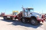 2007 Mack Granite 300 Quad Axle Flatbed Winch Rig Truck