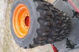 New Set of 4 Skid Steer Tires and Wheels 10in