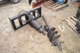 Skid Steer Auger Attachment with Head