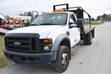 2008 Ford F450 XL Super Duty 12ft Flatbed Pickup Truck