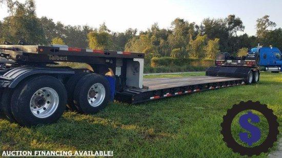 2015 Talbert T40- 40SRG T1 40 Ton Detachable Lowboy Gooseneck Drop Deck Trailer