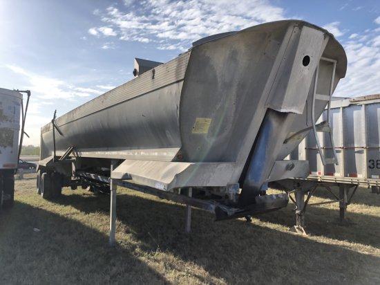 1996 Everlite 34 ton Aluminum 40 ft End Dump Trailer