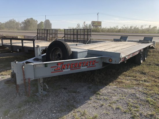 2006 Interstate 8 ton Tag Along Equipment Trailer