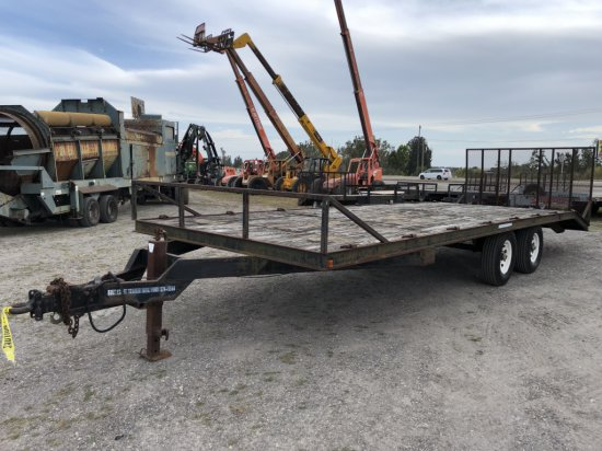 26ft Gulf Coast T/A Equipent Tag Along Trailer