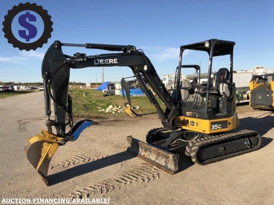 2017 John Deere 35G Mini Excavator w/ Thumb