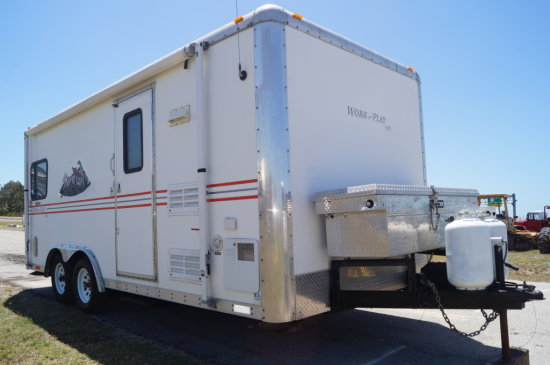 2006 Forest River 18ft Work & Play Toy Hauler Travel Trailer