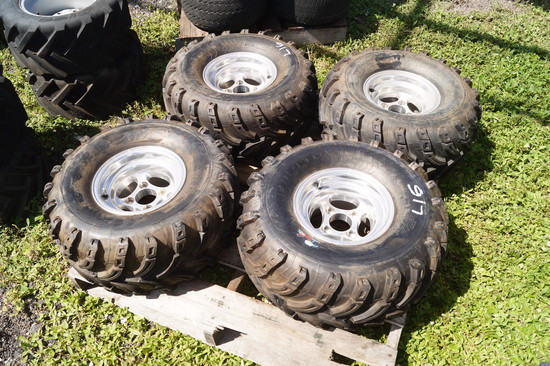 4 Swamp Fox Off Road Golf Cart Tires and Wheels