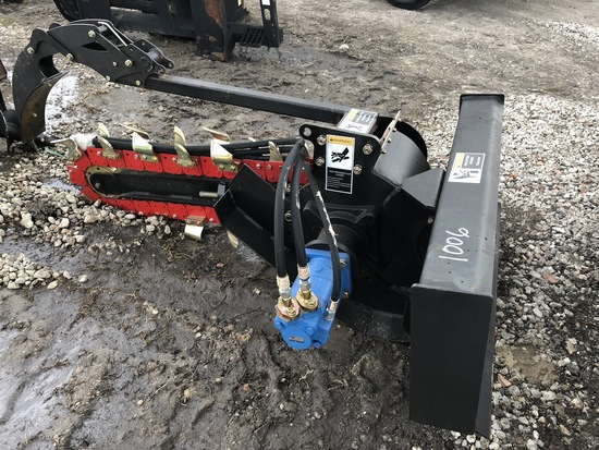 Hydraulic Skid Steer Trencher Attachment