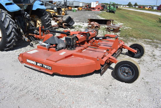 Rhino TW120 10ft Rotary Mower 3 Point Attachment