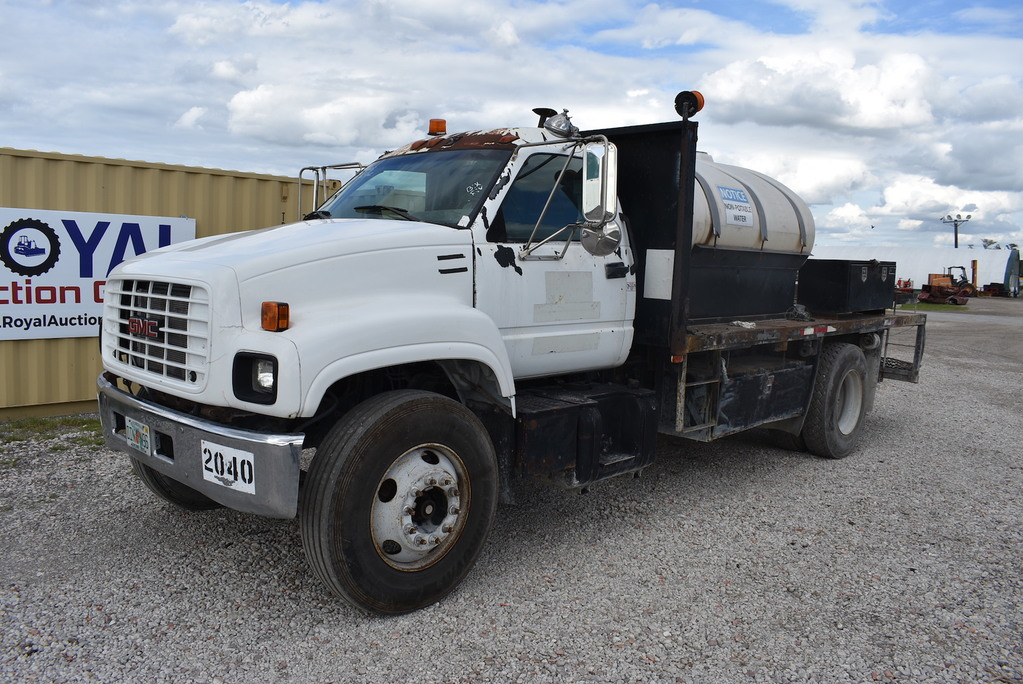 2001 GMC C7500 Flatbed Water T    Auctions Online | Proxibid