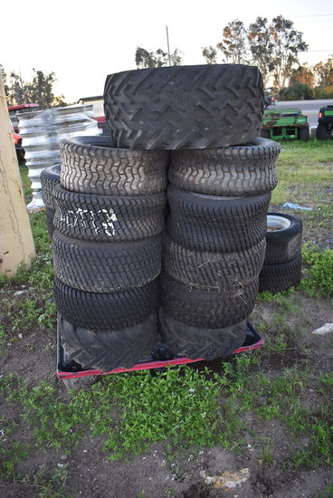 Pallet of Misc Golf Cart and Mower Tires All Used