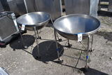 2 Stainless Commercial Mixing Bowls with Stand