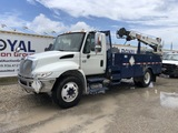 2007 International 4200 Flatbed Service Crane Truck