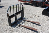 42in Skid Steer Fork Frame and Pallet Forks