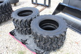 4 New Skid Steer 10-16.5 Loader Tires