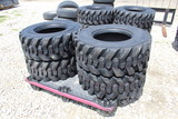 4 New Skid Steer 12-16.5 Loader Tires