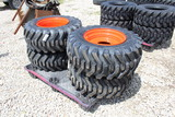 4 New Skid Steer 12-16.5 Loader Tires and Wheels
