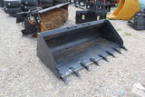 86 Inch Skid Steer Bucket with Teeth