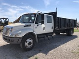 2007 International 4300 Crew Cab Landscape Dump Truck
