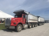 2000 Freightliner Quad Axle Dump Truck with Benson Tri-axle Dump Trailer PiggyBack Set Up