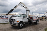 2008 Ford F-750 XLT SD Knuckle Boom Crane Truck
