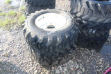 2 Titan 12in Skid Steer Tires and Wheels