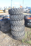 6 Titan 10in Skid Steer Tires and Wheels