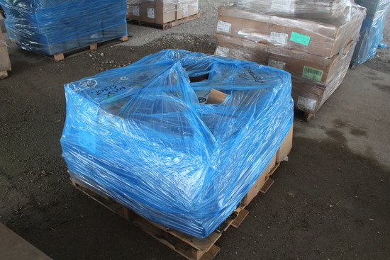 Pallet with Misc Electric Parts Including Condenser Fans and Electric Motors