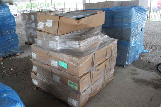 Pallet with Misc HVAC and Electrical Parts