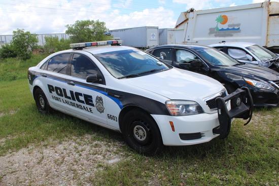 2012 Chevrolet Caprice 4 Door Police Cruiser Wrecked