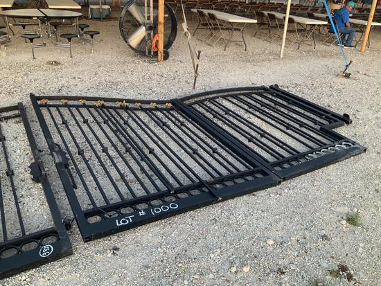 23ft 4 Part Black and Gold Driveway Gate