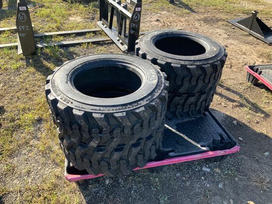 4 new 10-16.5 Skid Steer Tires