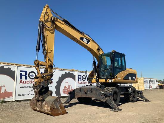 2009 Cat M316D Hydraulic Wheeled Grading Excavator - VIDEO
