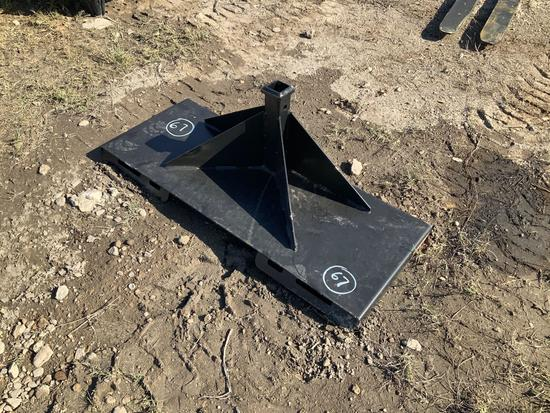 Skid Steer Mount Trailer Mover Attachment