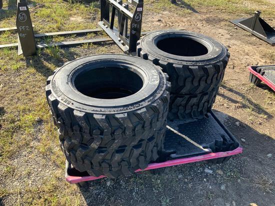4 Unused 10-16.5 Skid Steer Tires