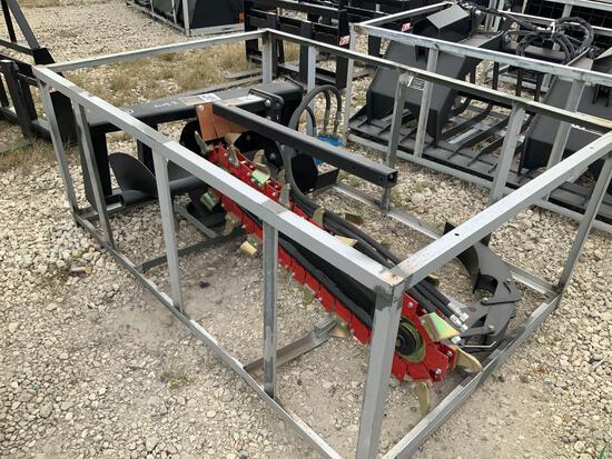 Unused Hydraulic Skid Steer Trencher