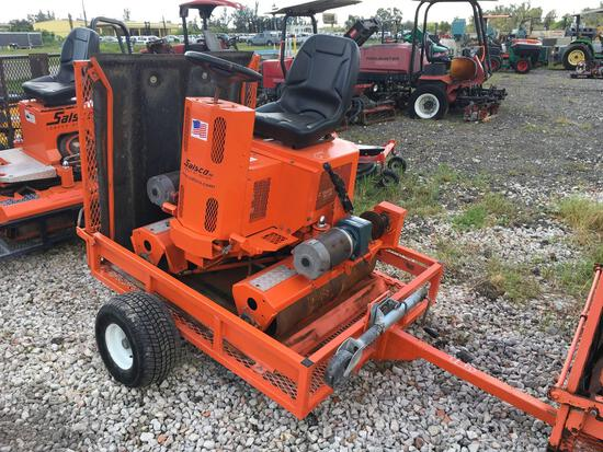 Salsco 09054 Ride Along Electric Sod Roller with Charger and Trailer