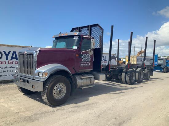 2010 International Paystar Tri-Axle Flatbed Logging Truck