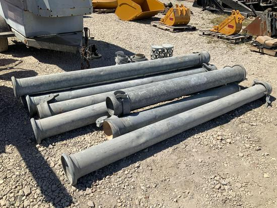 8 Sections of Pipe Connectors Measuring 8in from 6in Pump System