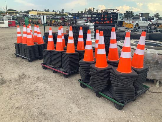 3 Pallets of Unused Road Cones