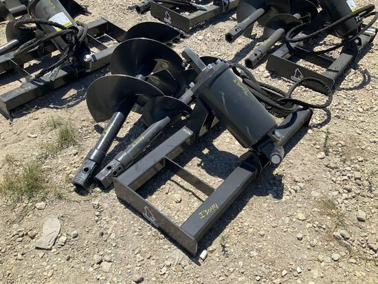 Unused Wolverine Hydraulic Skid Steer Auger Attachment
