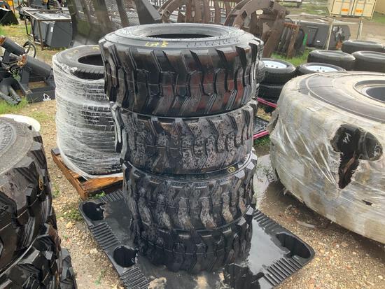 4 Unused 12-16.5 Skid Steer Tires