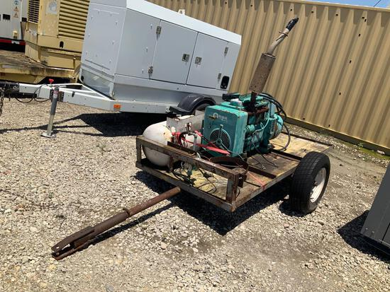 Homemade Trailer Onan Power Unit with Fuel Tank