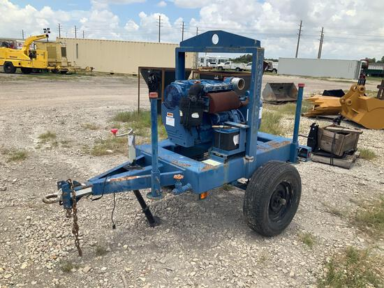 1998 Thompson 4HT-296 4in Towable Trash Pump
