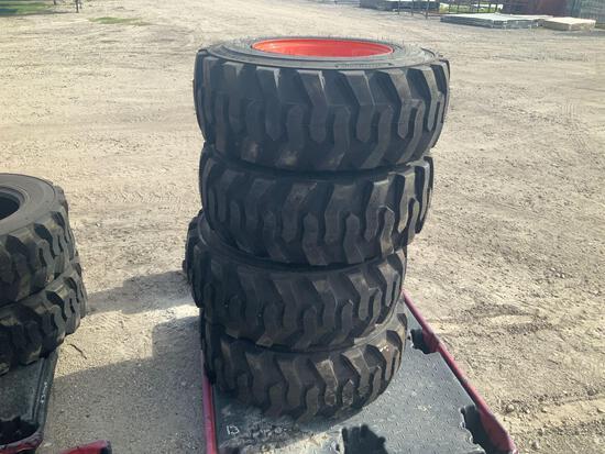 Four Unused 12-16.5 Tires W/Rims