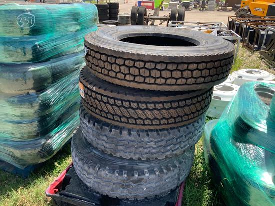 4 Commercial Truck Tires 2 Unused